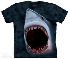 The Mountain 103103 Shark Bite Adult Unisex Short Sleeve T-shirt Blue