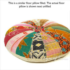 "28"" Colorful Kantha Decorative Floor Cushion Seating Pillow Throw Cover Indian B"