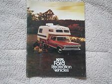 1975 FORD BRONCO RANCHERO F100 F350 RECREATIONAL VEHICLES DEALER SALES BROCHURE