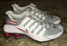 NEW Mens Sz 8 8.5 NIKE Shox NZ White Red Silver Running Training Shoes Sneakers