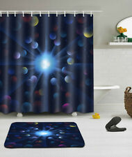 "Universe Abstract Bathroom Mat Waterproof Polyester Fabric Shower Curtain 72"" 65"