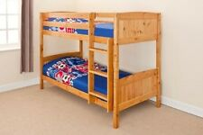 Bunk Bed Solid Pine- Antique or White with Mattresses splits into 2 beds