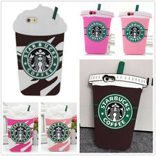 3D Starbucks Drink Soft Silicone Back Case Cover Skin For iPhone Samsung Galaxy