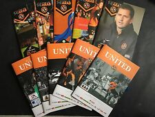 2014/15 - 2015/16 VARIOUS HOME DUNDEE UNITED FOOTBALL PROGRAMMES