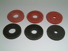 "20 Rubber Washers choose from 1"" O/D x 3/16""/ 5/16""/ 3/8"" I/D x 1/8"" Thk"