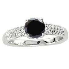 925 Sterling Pure Solid Silver Ring 6mm Natural Black Spinel Gemstone Ring
