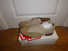 Brand New Grenson Dylan Neutral Suede Nubuck Longwing Brogues Shoes UK10.5