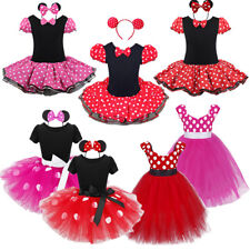Baby Kids Girls Minnie Mouse Birthday Party Costume Ballet Tutu Dress 1-10 Years