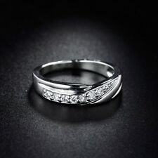 Attractive Sapphire Crystal White Gold Filled Fashion Lady Ring Accessorize 5-9