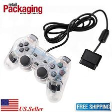 New White Twin Shock Wired Game Controller Joypad Pad for Sony PS2 Playstation 2