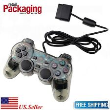 New Black Twin Shock Wired Game Controller Joypad Pad for Sony PS2 Playstation 2