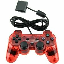New Red Twin Shock Wired Game Controller Joypad Pad for Sony PS2 Playstation 2