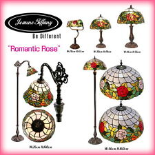 """Amazing """"Romantic Rose"""" STYLE REAL STAINED GLASS HANDCRAFTED TIFFANY LAMP"""