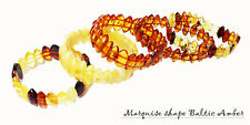 Chunky Baltic Amber Bracelet 105. Two elastic strings expand to fit all wrists