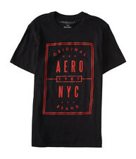 aeropostale mens aero nyc box graphic black