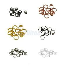 10pcs 12mm Round Bezel Pad Adjustable Ring Blank Bases Setting Jewelry Findings