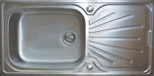 Extra Large Single Super Deep Bowl 1.0 Stainless steel Kitchen Sinks BRUSHED