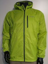 Mens M Columbia Trail Drier Windbreaker Light Full Zip Hooded Jacket Chartreuse
