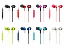SONY MDR-EX110IP In-Ear Headphones Remote/Mic for iPhone 8 Color Variations NEW