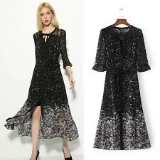New 2017 Women's Floral Flowers Fashion Graphic Pattern Classic Shirt Dress Hot