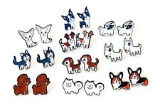 Dog Puppy Earrings Chihuahua Beagle Pug French Bulldog Etc Studs in Gift Bag/Box
