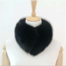 Real Farm Fox Fur Collar Lady Scarf Shawl Stole Wrap Top Chic Furry Neck Warmer
