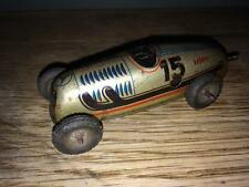 TINPLATE CLOCKWOCK RACING CAR, SCHUCO? -1940-50's - MADE IN GERMANY.