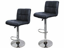 Calhome Adjustable Height Swivel Bar Stool with Cushion Set of 2