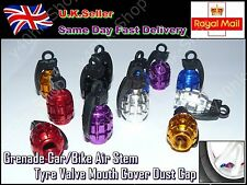 2pcs Grenade Car MotorBike Bicycle Air Stem Tyre Valve Mouth Cover Dust Cap