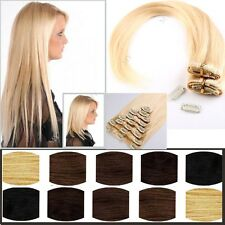 "10-22"" Clip In Extensions Remy Real 100% Human Hair Full Head FAST ARRIVAL II510"