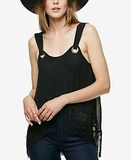 NWT Free People Midnight Moves Fringe Top Black MSRP: $128 Size XS