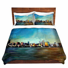 DiaNoche Designs Chicago Skyline Duvet Set