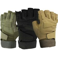 Outdoor Sports Military Tactical Half-finger Assault Glove Paintball Game Black