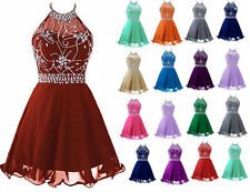 Hot Short Halter Homecoming Prom Dresses Formal Evening Cocktail Party Gown 6-22