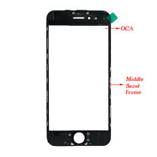 Replacement Touch Screen Glass Lens+Frame Bezel +OCA For Iphone 6 7 7S 6S 7 Plus