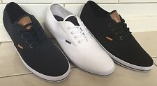 MEN'S UNSUNG HERO FENTON CANVAS TRAINERS - BLUE / BLACK /WHITE - SIZE 8 ***NEW**