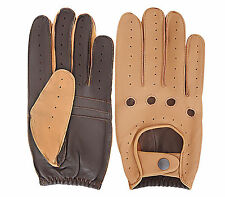 MEN'S SLIM FIT DRIVING GLOVES LEATHER DRESS FASHION CHAUFFEUR TOP QUALITY (522)