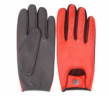 MEN'S SLIM/SNUG FIT GENUINE LEATHER DRIVING GLOVES MENS FASHION STYLE