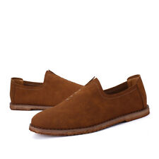 British Slip On Mens Driving Moccasin Loafers Suede Casual Comfort Shoes