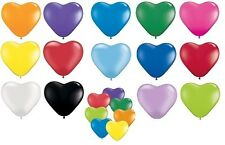 "Pack of 12 Qualatex 6"" Heart Shaped Latex Party Balloons (1 of 2 Listings)"