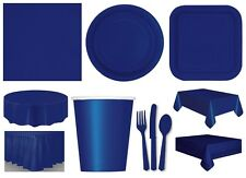 TRUE NAVY BLUE TABLEWARE - Plates/Cups/Napkins/Tablecovers