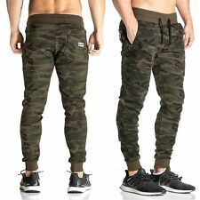 Men's Athletic Camo Sweatpants Muscle Brothers Sports Gym Jogging Pants Trousers