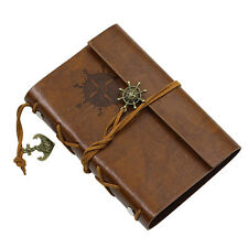 ANCHOR FAUX LEATHER COVER NOTEBOOK JOURNAL DIARY BLANK STRING NAUTICAL COMFY