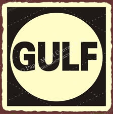 (VMA-G-1089) Gulf Vintage Metal Art Automotive Oil Retro Tin Sign