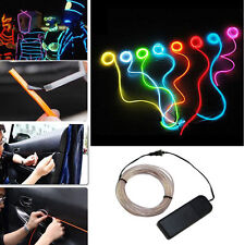 LED Flash Flexible Neon Light Glow EL Strip Tube Wire Rope Car Party Décor 1-5M