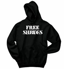 Free Shrugs Funny Sweatshirt IDK Dont Care College Humor Gift Hoodie