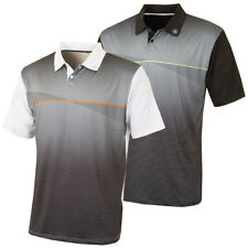 Island Green 2017 Mens Stripe Sublimated Golf Polo Shirt CoolPass Performance