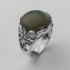 Hand Crafted 925 Sterling Silver SHABLOOL Ring Blue/green Cocktail