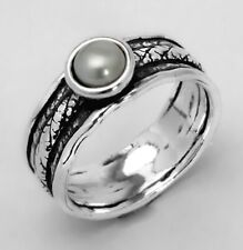 925 Sterling Silver Ring Fresh Water Pearl White solitaire Ring