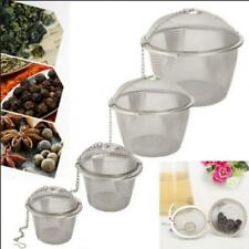 Tea Leaf Ball Spice Strainer Mesh Infuser Stainless Steel Herbal Filter 4 Sizes